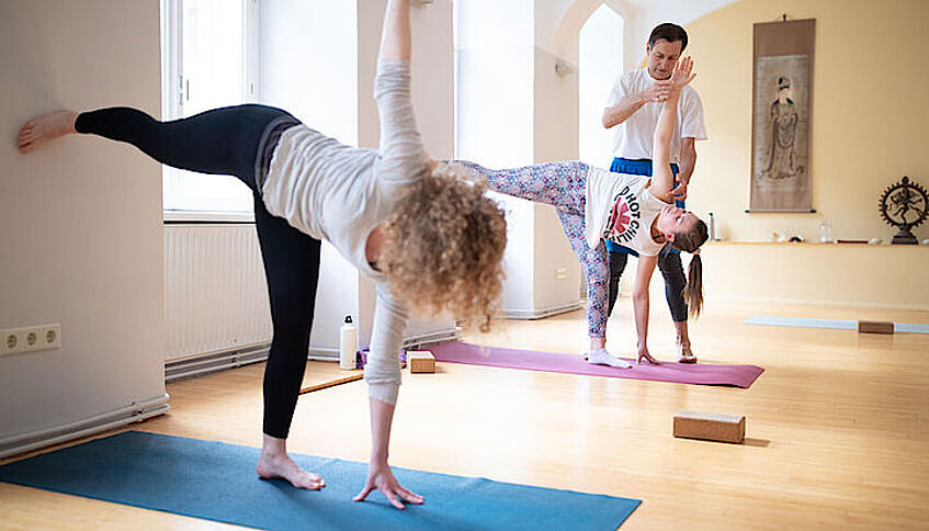 Yoga-Kurs am USI.